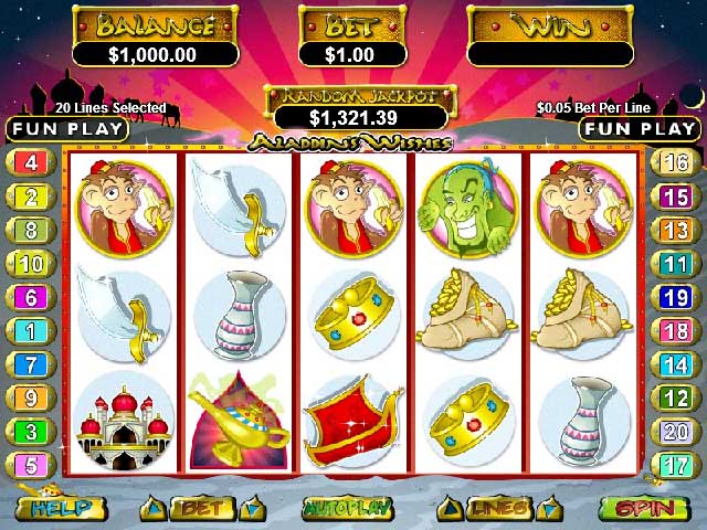 Manhattan Slots Aladdins Wishes