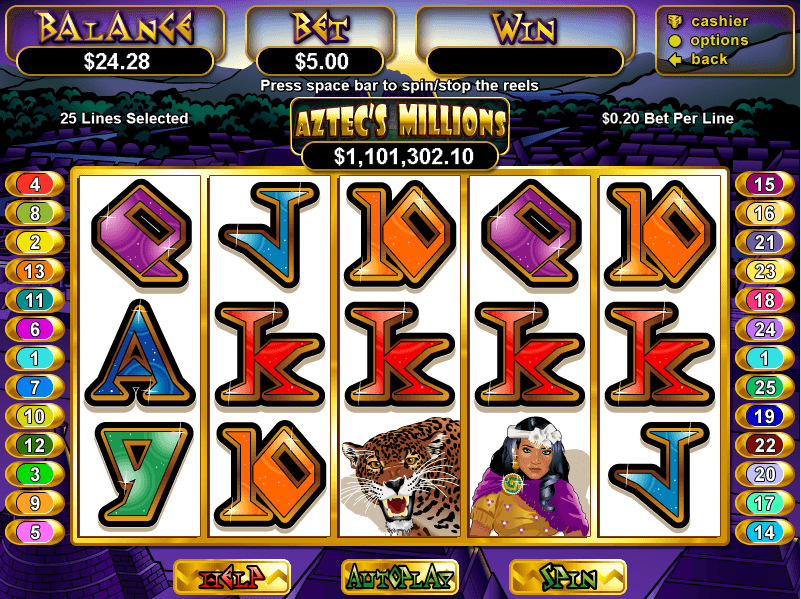 Manhattan Slots Aztecs Millions