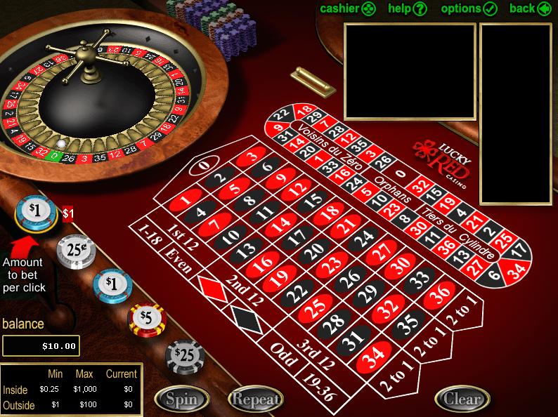 European Roulette Board