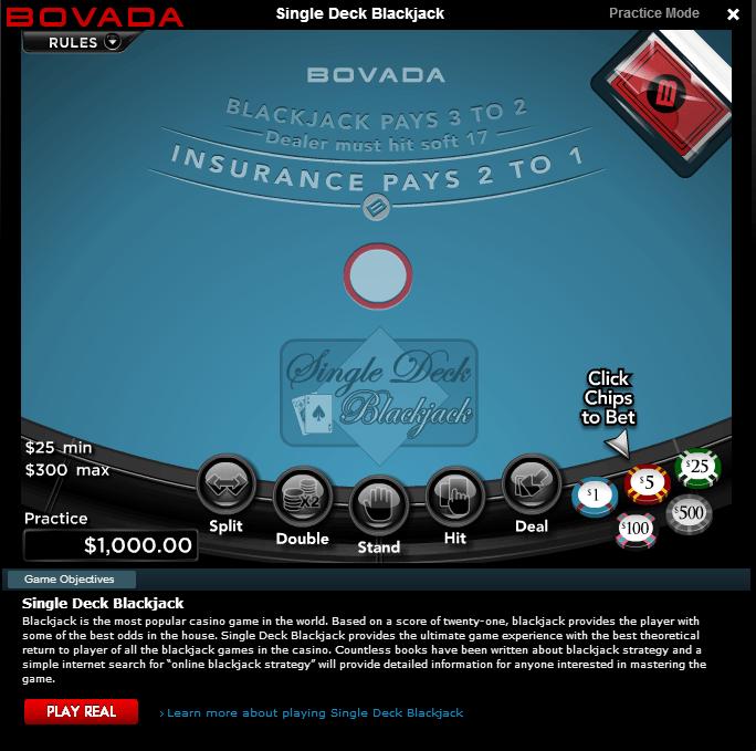Is bovada online blackjack rigged