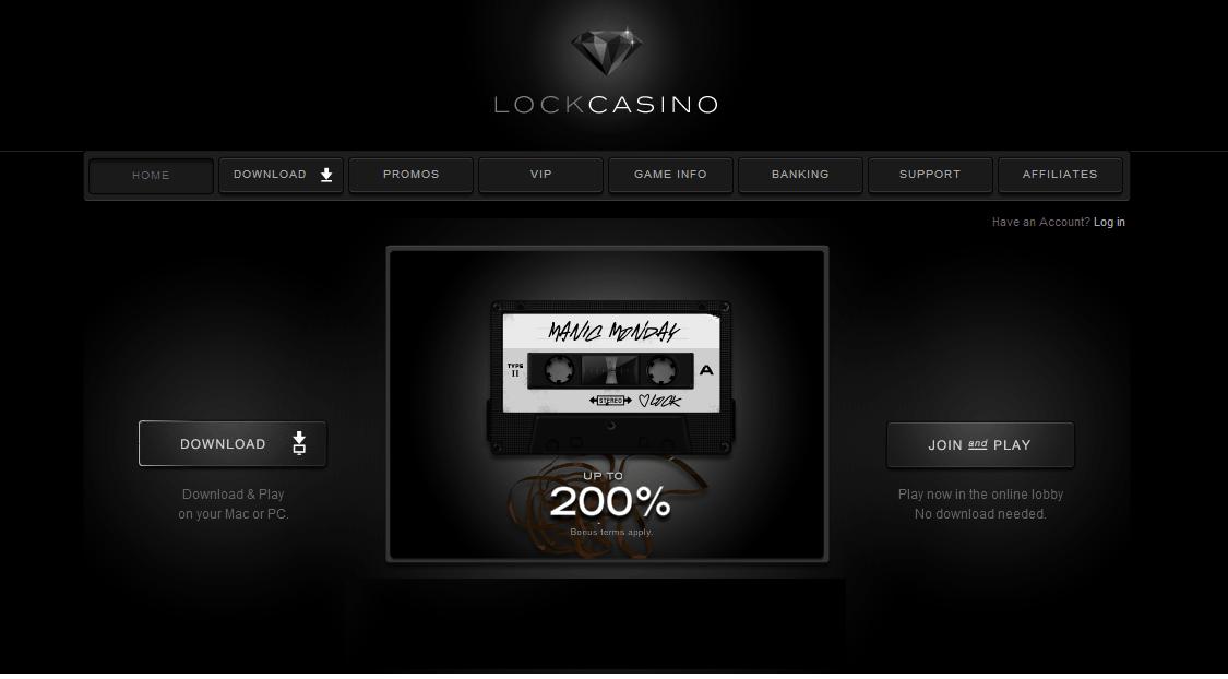Lock Casino Homepage