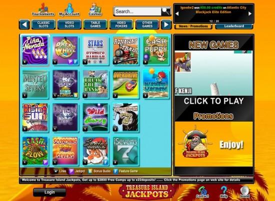 Treasure Island Jackpot Casino Lobby