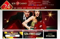 Box24 Casino Homepage