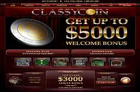 Classy Coin Casino Homepage