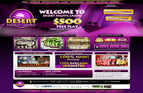 Desert Nights Casino Rival Homepage