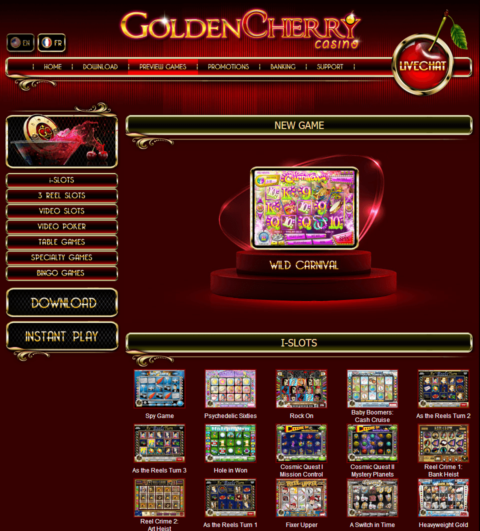 cherry gold casino online flash