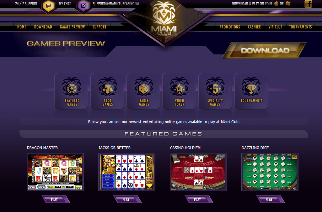 instant coupon for miami club casino