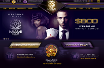 Miami Club Casino Homepage