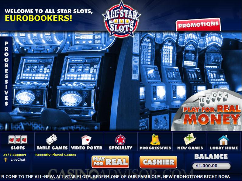 All Star Slots Casino Software