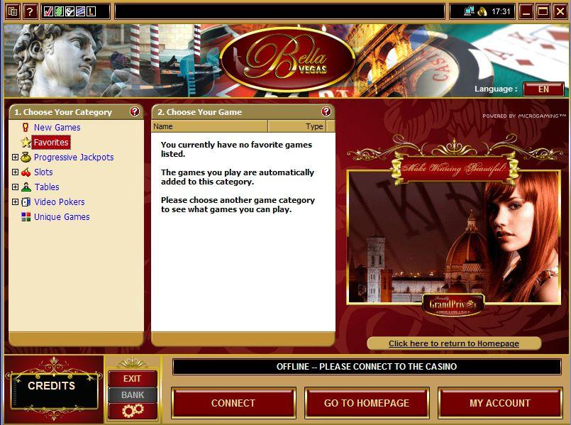 Bella Vegas Casino Software