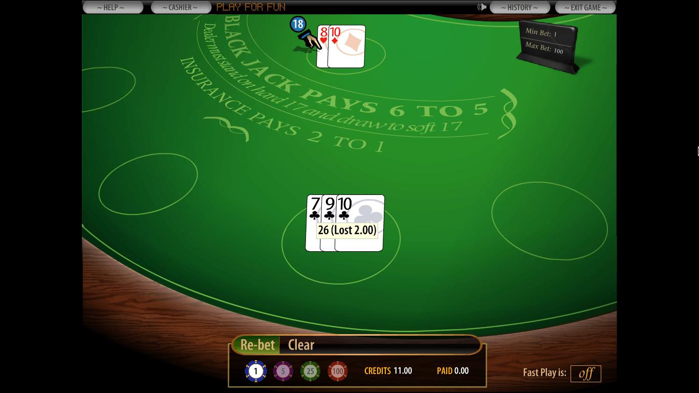 PlayBlackjack.com Casino Homepage