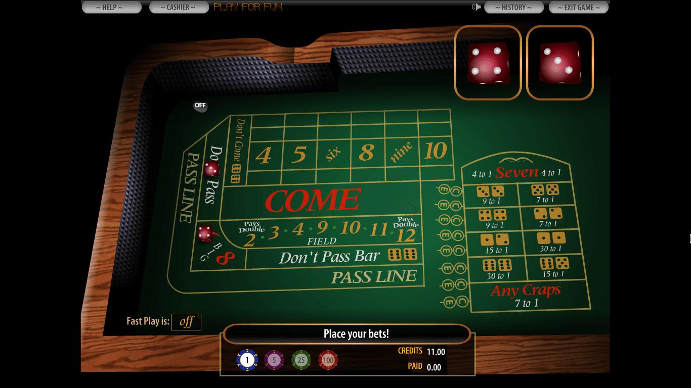 PlayBlackjack.com Casino Craps