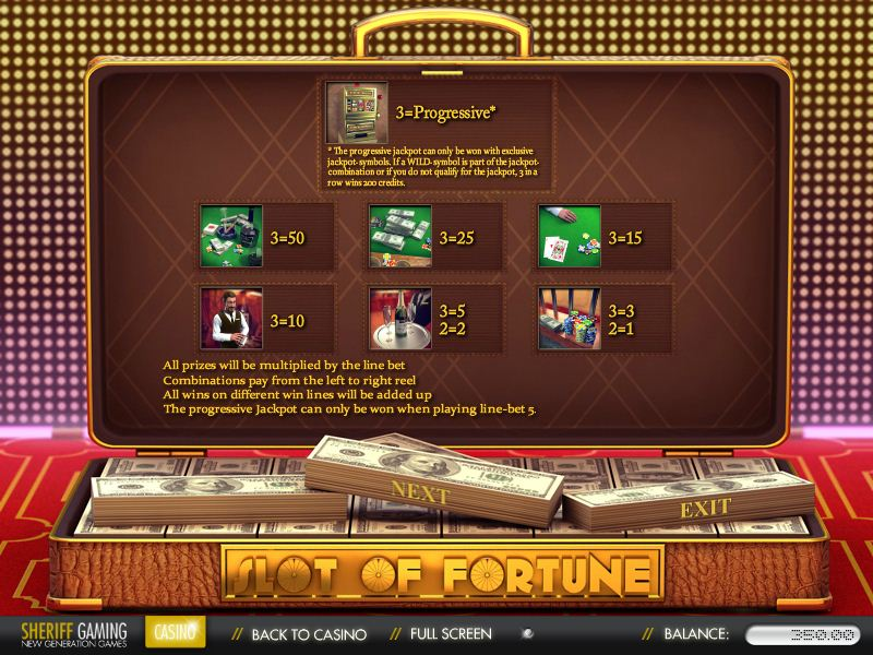 Slots of Fortune Casino Software