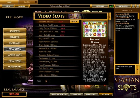 Spartan Slots Casino Software