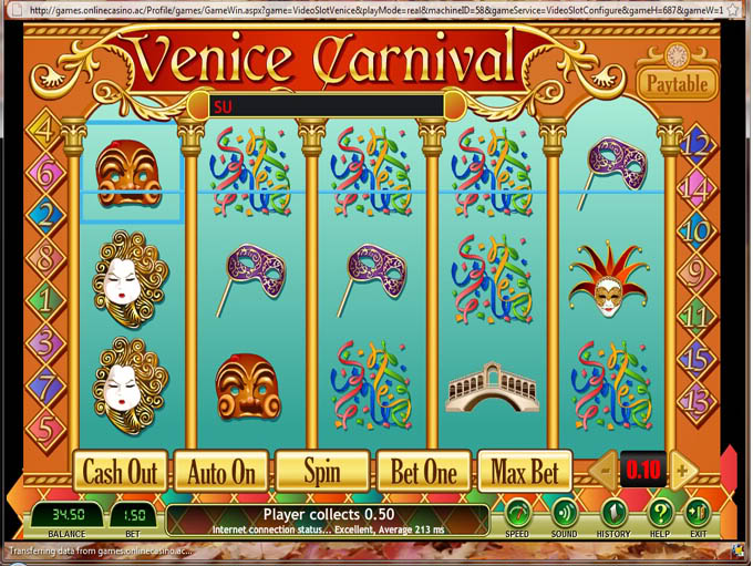 AC Casino Venice Carnival Slot Game