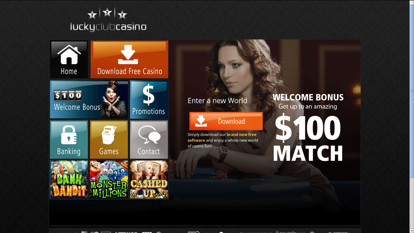 Lucky Club Casino Homepage
