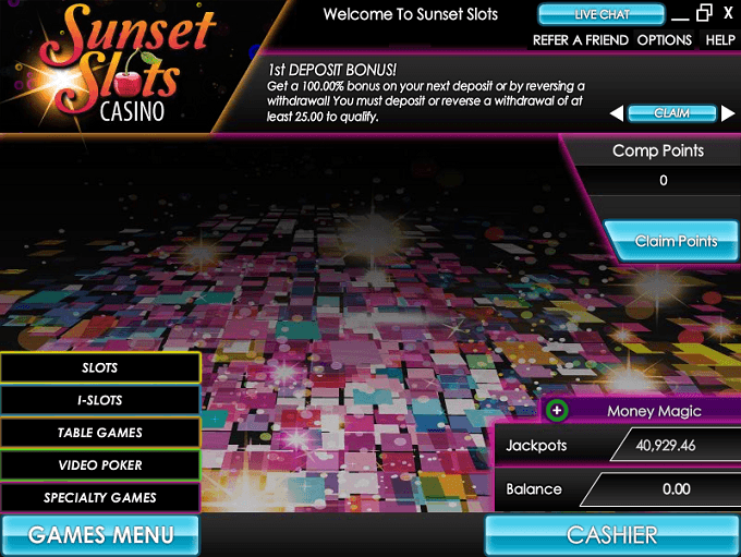 Sunset Slots Casino Software